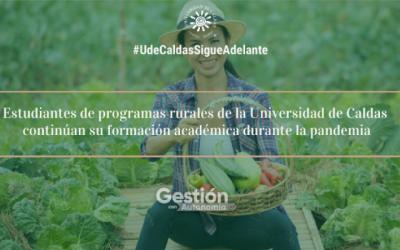 Estudiantes rurales de UCaldas avanzan durante la pandemia
